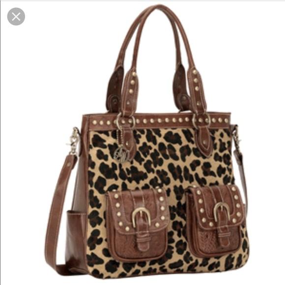 b0204d56cc5 American west leopard print leather bag